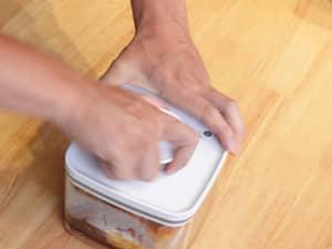 油漬茄子醬油,一次做一週份|ANKOMN旋轉真空保鮮盒
