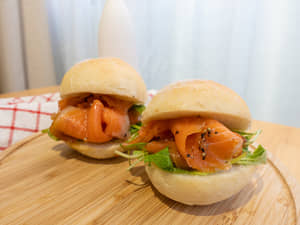 煙燻鮭魚三明治|紐西蘭庫克山帝王鮭