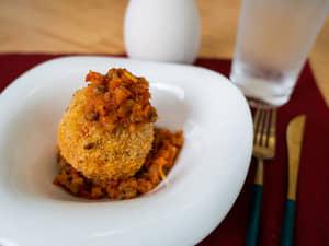 Rice圓可樂餅・佐茄汁肉醬 德國百靈Braun手持食物調理棒