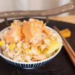 味噌鮭魚奶油馬鈴薯炊飯|紐西蘭庫克山冰河帝王鮭